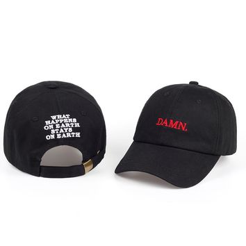 Kendrick Lamar DAMN snapback baseball caps for men and woman Embroidered Dad Hat