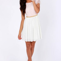 Lace-ies and Gentlemen Pink and Ivory Lace Dress