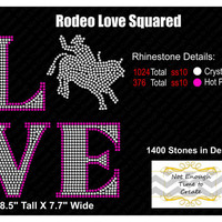 Rhinestone Love Squared Rodeo Women's T-Shirt