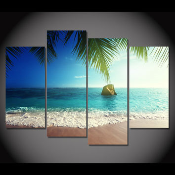 Ocean Beach Paradise 5-Piece Wall Art Canvas