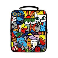 Romero Britto Printed Outdoor Casual Backpack Students School Bag