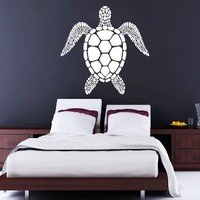 Wall Decals Turtle Tortoise Tortoiseshell Water Sea Animal Swim Wall Vinyl Decal Stickers Bedroom Murals