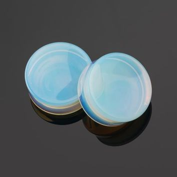 "Opalite Concave Plugs 0G (8mm) - 2"" (51mm)"