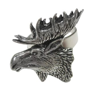 Moose Head Adjustable Size Fashion Ring