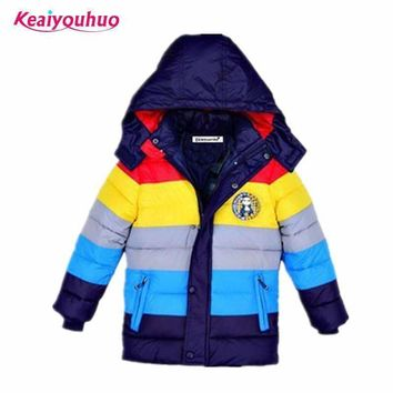 Boys Winter Hooded Down Puff Jacket