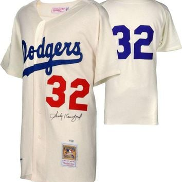 DCCKJNG Sandy Koufax Signed Autographed Los Angeles Dodgers Baseball Jersey (MLB Authenticated)