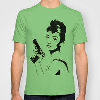 AUDREY HEPBURN and BLOODBATH at TIFFANYS T-shirt by Mr Mahaffey