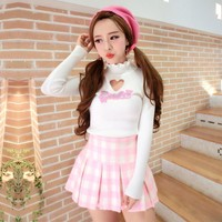 Japanese kawaii barbie Hollow Heart Sweater SD01424