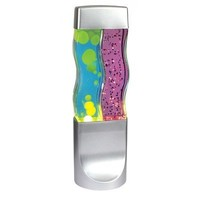Creative Motion Twin Motion Lamp, Yellow Wax/Blue Liquid with Purple Glitter