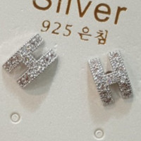 Hermes full rhinetsone shining earrings