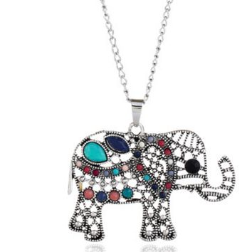 New Jewelry Retro Elephant Necklace