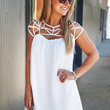 Charlotte's Web Dress {White}