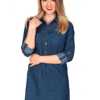 Waitin' For You Chambray Tunic | Monday Dress Boutique