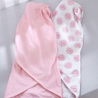 Breathable Baby Dahlia 2-pk. Swaddle Blankets - Baby Girl (Pink Dahlia)