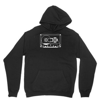 audio cassette 80's 90's party hip hop nostalgia retro Unisex Hoodie