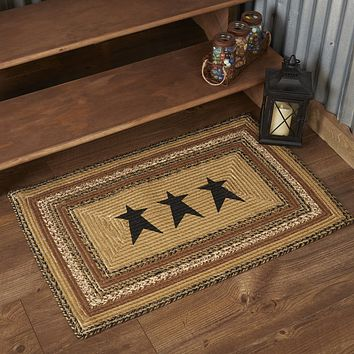 Kettle Grove Collection Jute Rugs - Rectangle Stars