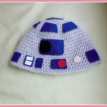 R2D2 Inspired Crochet Hat