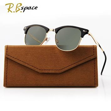 2017 new fashion RBspace sunglasses men's designer brand polarized coating sunglasses men's  UV400 driving glasses men and women