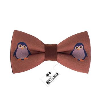 Brown Penguin Bow Tie