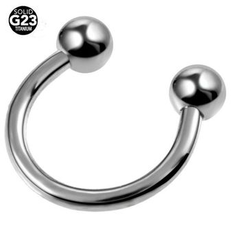 ac DCCKO2Q 1PC G23 Titanium Horseshoe Piercings Septo Nose Lip Eyebrow Ear Septum Cartilage Helix Captive Hoop Ring Piercing Labret Nariz
