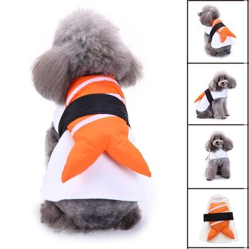 Japanese Sushi Small Dog Clothes for chihuahua poodle yorkie winter warm puppy pet funny dog clothing christmas dog coat