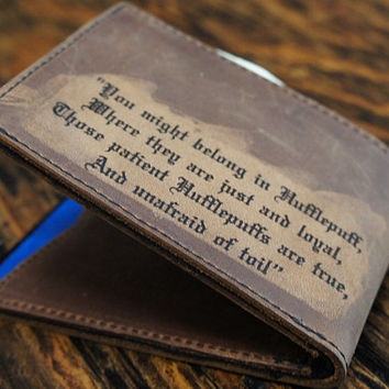 Harry Potter Hufflepuff Leather Wallet [multicolors] [customizable]