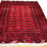 vintage Afghan Morre Gul rug Big tribal rug 100% Wool made 25 years old rug Excellent condition just like new