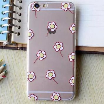 Hollow Out Yellow Floral iPhone 5se 5s 6 6s Plus Case Cover + Nice Gift Box 364-170928