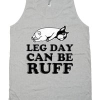 Funny Workout Tank Leg Day Can Be Ruff Work Out Clothes American Apparel Fitness Apparel Training Gifts Gym Tank Unisex Mens Tanks WT-204