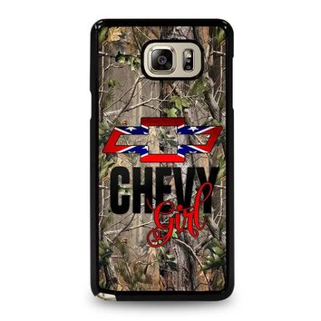 CAMO BROWNING REBEL CHEVY GIRL Samsung Galaxy Note 5 Case Cover