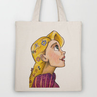 Rapunzel's Gaze  Tote Bag by Trinity Bennett