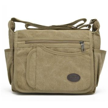 Mans Canvas Bags Leisure Messengers Bags Climbing Bags Travel Crossbody Bags