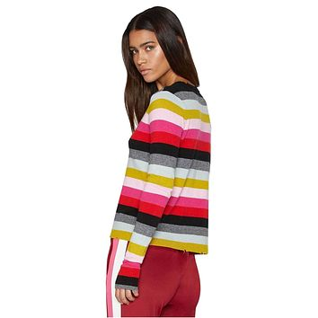 Multistripe Crew Neck Sweater
