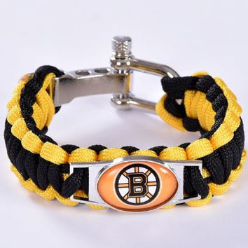 NHL - Boston Bruins Custom Paracord Bracelet