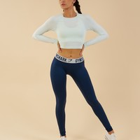 Gymshark Vital Seamless Long Sleeve Crop Top - Sea Foam Green