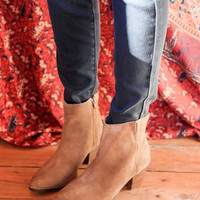 Camilia Suede Boot, Tan