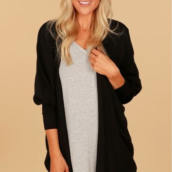 Snug As A Bug Open Cardigan Black