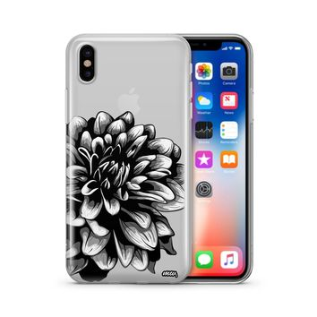The Black Dahlia - Clear TPU Case Cover