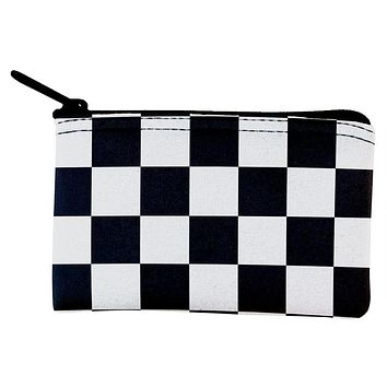 Finish Line Checkered Flag Coin Purse