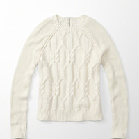 ZIP CABLE KNIT SWEATER