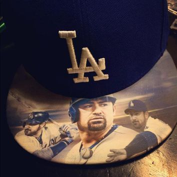 Los Angeles Dodgers authentic New Era hat with custom