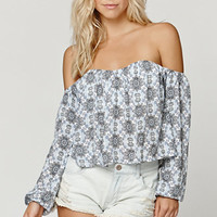 LA Hearts Off The Shoulder Open Hem Top at PacSun.com