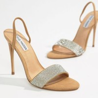 Steve Madden Fierce Rhinestone Slingback Heeled Sandals at asos.com