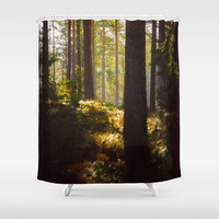 it has found you... Shower Curtain by HappyMelvin