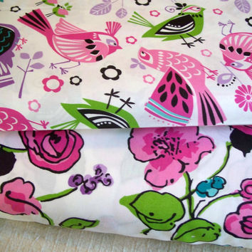 Going on Thirty - Yard Bundle - Maywood Studios - Designer Cotton Quilt Fabric - Novelty, Bird, Floral, White, Pink, Lavender, Green, Black