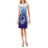 jcpenney - Studio 1® Floral Print Fit-and-Flare Dress - jcpenney