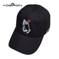 Fashion Cotton Rose In Hand Snapback Baseball Caps For Men Women Adjustable Casual Hat Adult Fitted Hats Snap Back Golf Cap