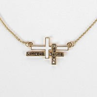 Women's Sideways Cross Necklace