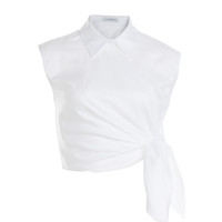 J.W. Anderson - Cropped Cotton Top with Knot