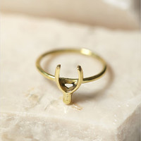 Sunahara Wishbone Lucky Charm Ring